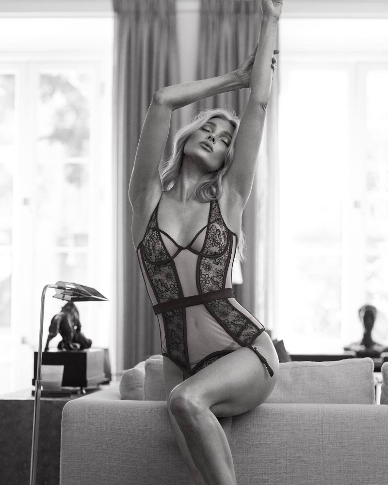 Elsa Hosk wears lace in Victoria's Secret fall 2019 campaign
