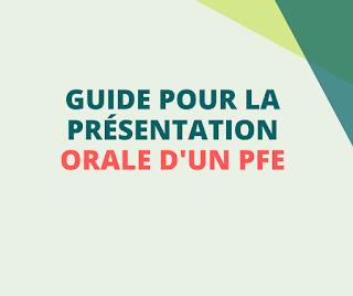 Guide pour la présentation orale d'un PFE