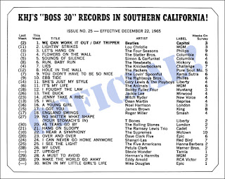 KHJ Boss 30 No. 25 - December 22, 1965