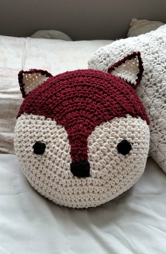 Crochet Fox Pillow... Pattern to come!