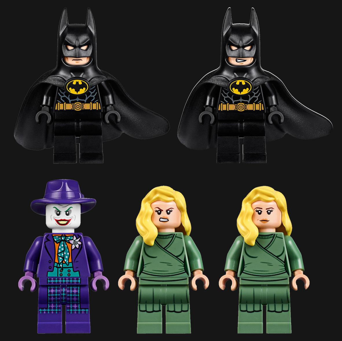 バットマン(マイケル・キートン)、ジョーカー(ジャック・ニコルソン)、ヴィッキー・ヴェール(キム・ベイシンガー)