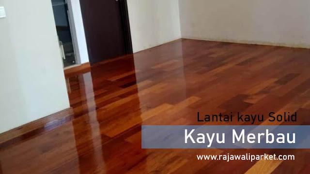 jenis lantai kayu untuk kantor merbau