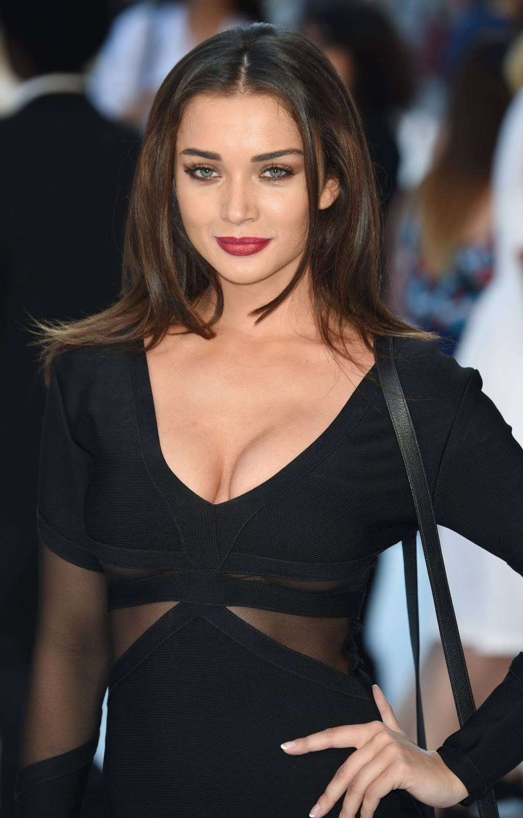 Actress Amy Jackson Hot Photos In Black Dress