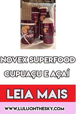 Novex SuperFood Cupuaçu e Açaí
