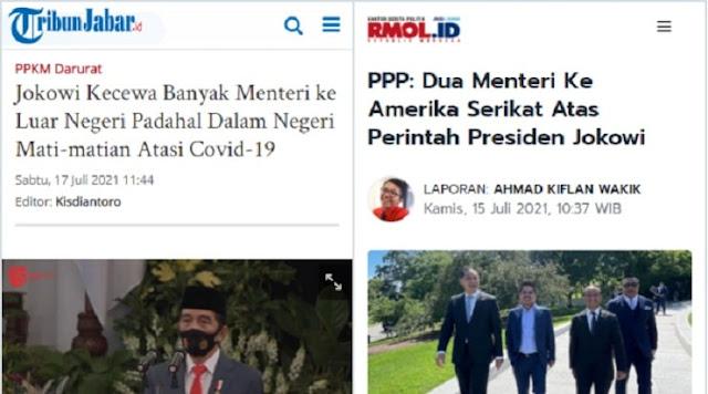 Heran dengan Sikap Jokowi yang Kecewa Menterinya ke Luar Negeri, Iwan Sumule: Siapa Berbohong?