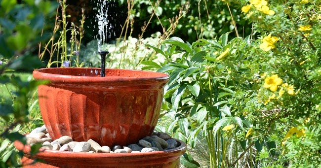 Solar Plant Pot Water Fountain In Under 15 Minutes The Interior Frugalista