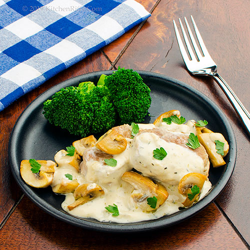 Pork Medallions in Cream and Mushroom Sauce