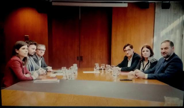 PSOE y ERC emiten un comunicado conjunto tras su reunión en Barcelona