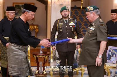 Menteri Besar Baru Johor Datuk Ir Hasni Mohammad Mengangkat Sumpah