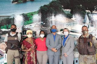 Imagem: Prefeita Eliana Gonzaga se reúne com representantes da SSP