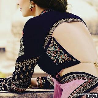 kerala saree blouse design