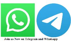 Join us on Telegram and Whatsapp
