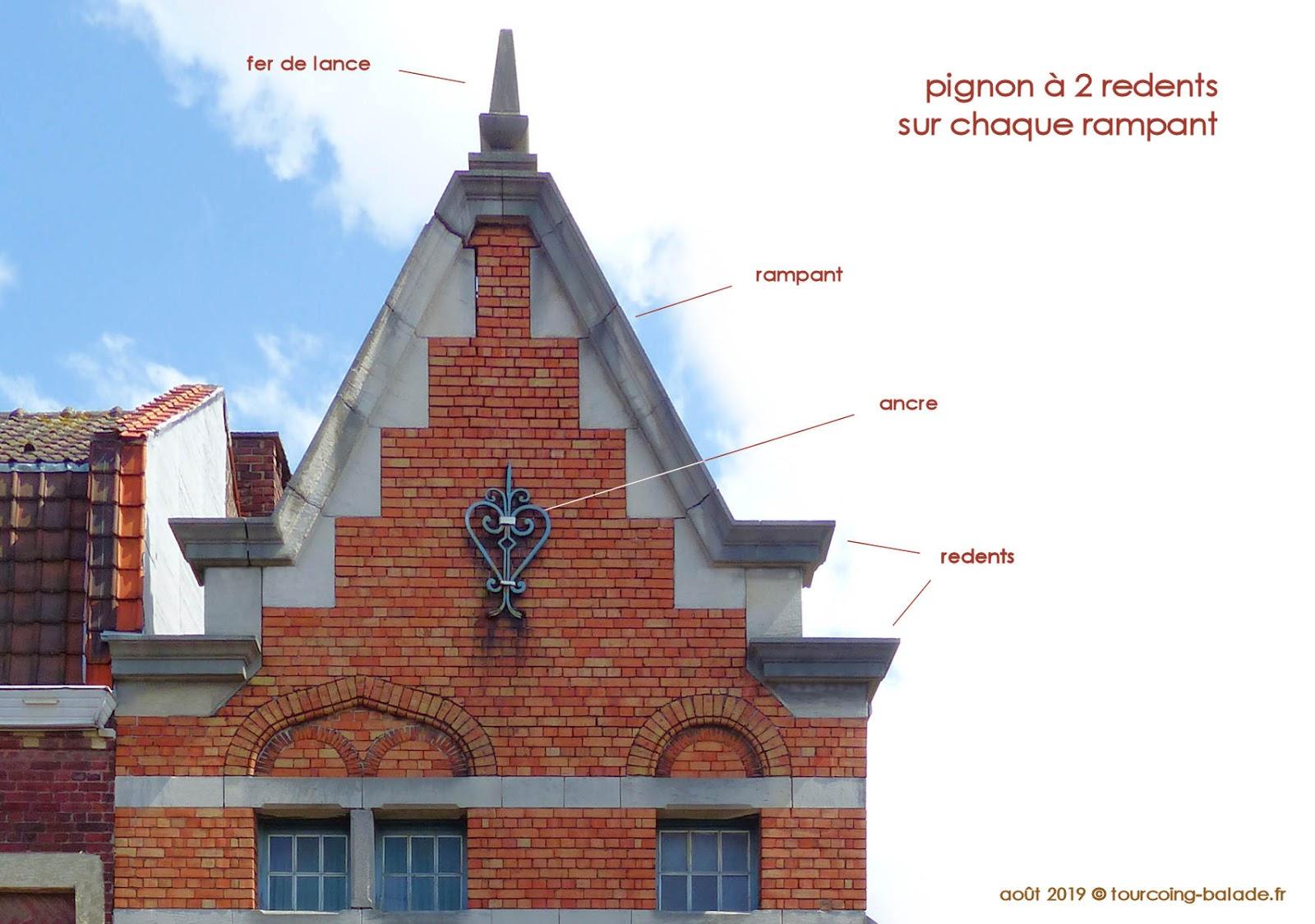 Tourcoing Architecture Néo-Flamande - Pignon à Redents, Blanc Seau 2019