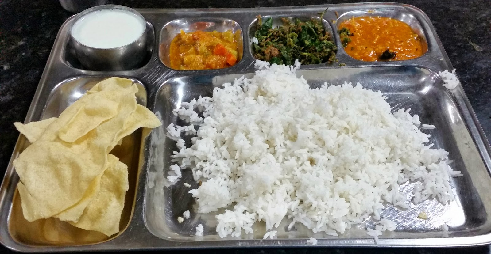 Andhra vegetarian meal
