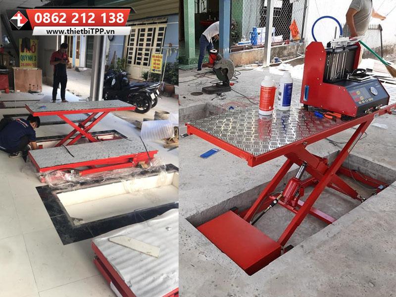 bàn nâng sửa chữa xe máy, bàn nâng sửa chữa xe tay ga, bàn nâng sửa chữa xe gắn máy, bàn nâng xe moto, bàn nâng sửa xe gắn máy