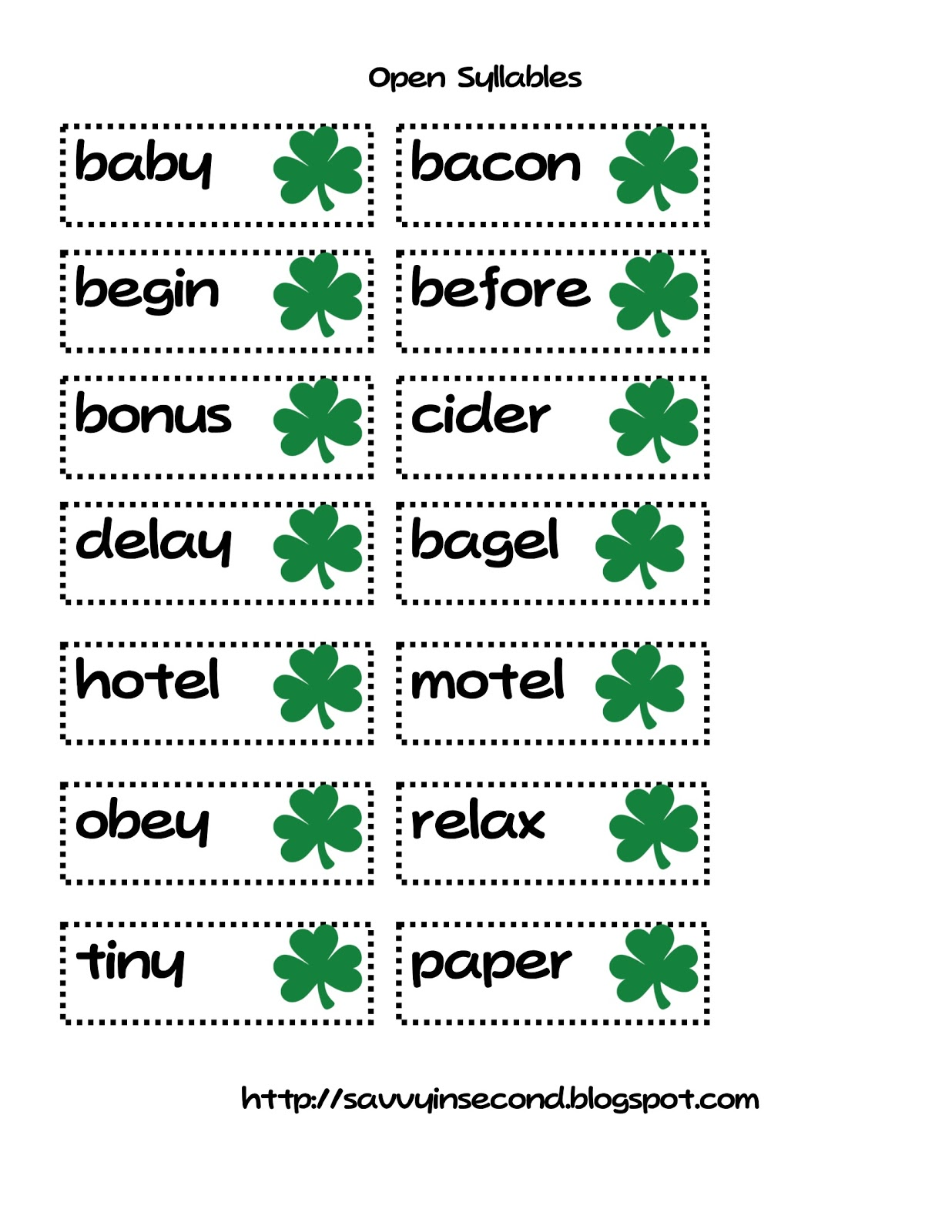 Savvy In Second St Patrick S Day Literacy Centers