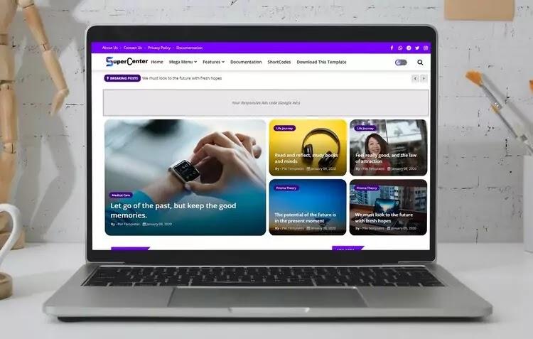 Super Center Blogger Template Free Download 2020