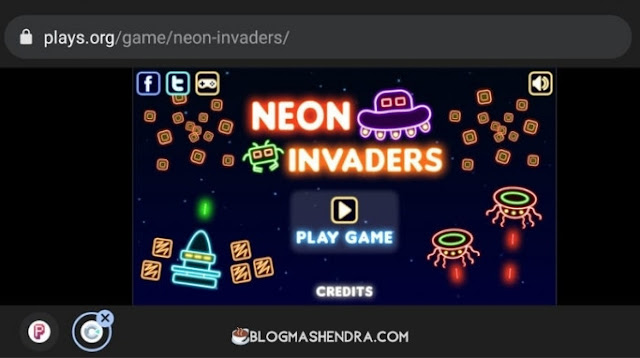 Game Neon Invaders Bisa Dimainkan Gratis di Plays.org