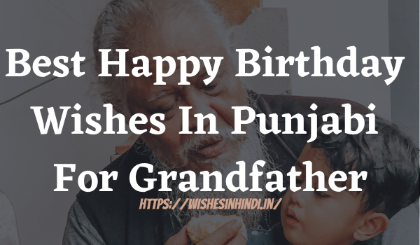 Best Happy Birthday Wishes In Punjabi For Grandfather