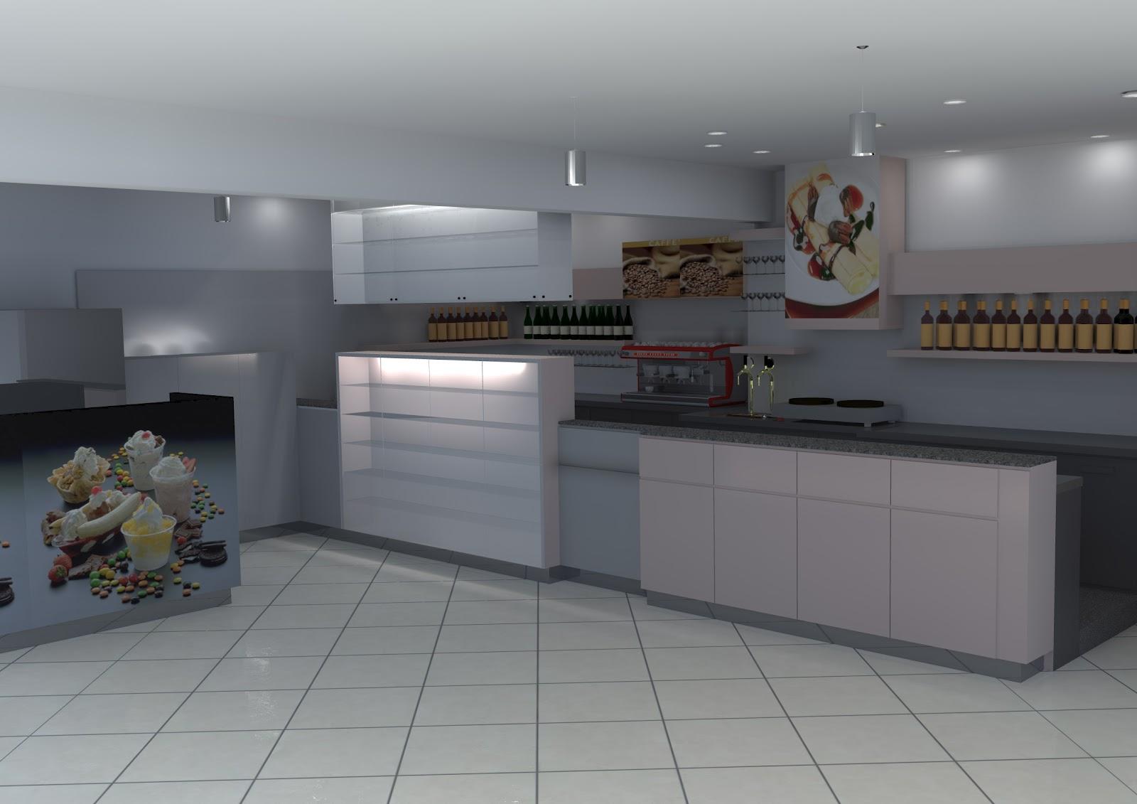 Render architettonici interno bar for Miglior software arredamento interni