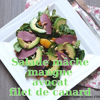 http://danslacuisinedhilary.blogspot.fr/2017/05/salade-gourmande-mache-avocat-mangue-canard.html