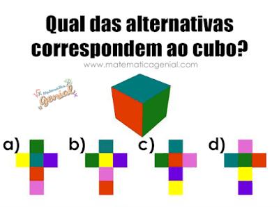 Desafio: Qual das alternativas correspondem ao cubo?