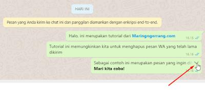 Menarik/Hapus Chat yang Sudah Lama di WhatsApp (Android & PC)
