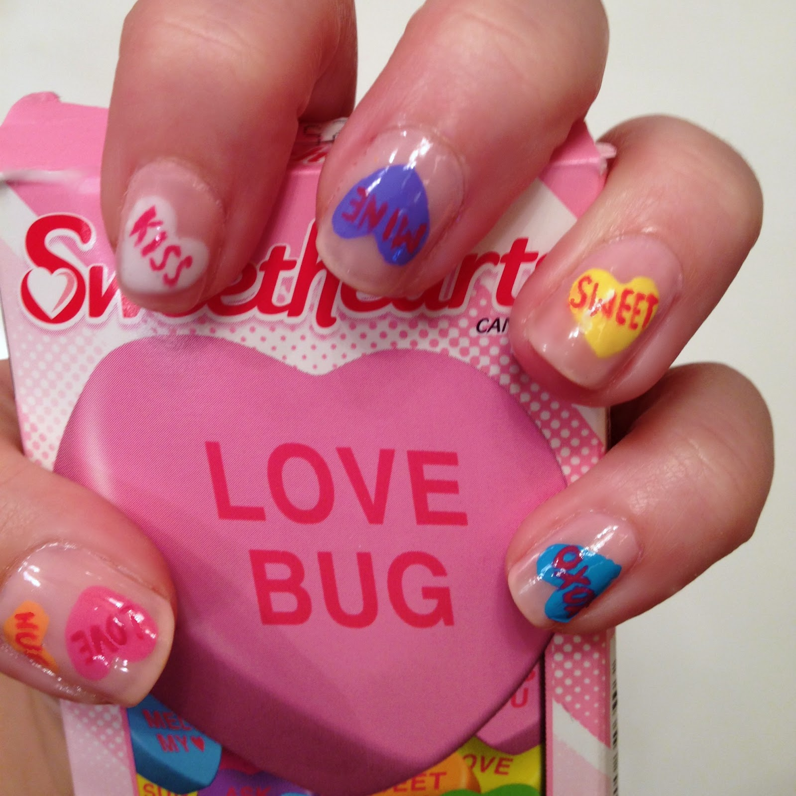 Nail Art Valentines: Rhinestoned Adventures: Valentine's Day Nails