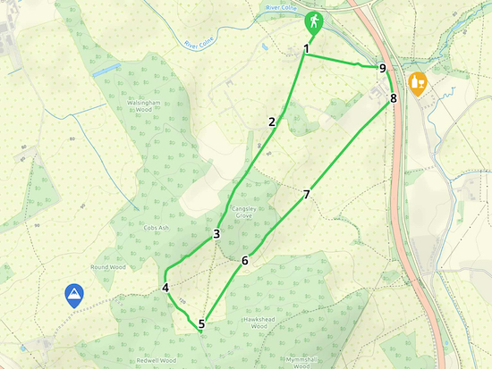 Map for Walk 1: The North Mymms Loop Created on Map Hub by Hertfordshire Walker With elements © Thunderforest © OpenStreetMap contributors We have an interactive map below the directions