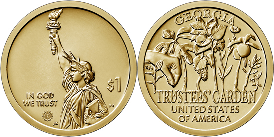 USA 1 dollar 2019 - American Innovation - Georgia
