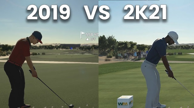 Visual Difference between Golf Club 2019 vs PGA Tour 2K21