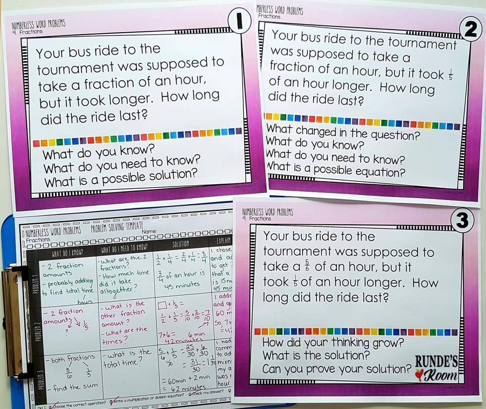 small resolution of Numberless Word Problems   RUNDE'S ROOM
