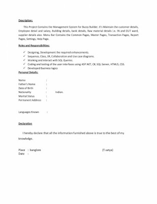 DOT NET Resume 3