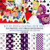 Kit de papeis Digitais Alice no País das Maravilhas + Pack png