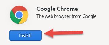 Google Chrome install button