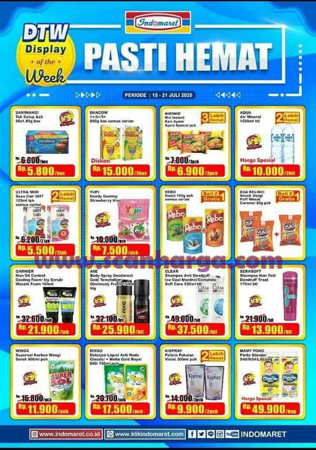 Promo Indomaret Dtw Display Of The Week Terbaru 15 21 Juli 2020