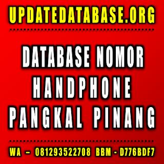 Jual Database Nomor Handphone Pangkal Pinang
