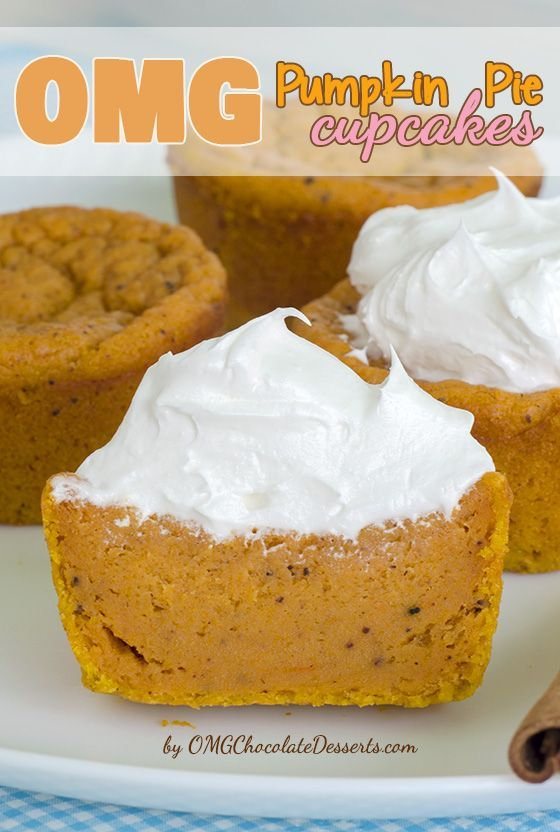 OMG Pumpkin Pie Cupcakes #recipes #baking #bakingrecipes #food #foodporn #healthy #yummy #instafood #foodie #delicious #dinner #breakfast #dessert #lunch #vegan #cake #eatclean #homemade #diet #healthyfood #cleaneating #foodstagram