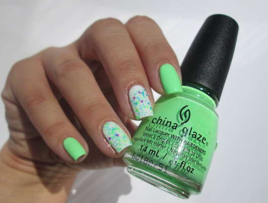 China Glaze green neon mani