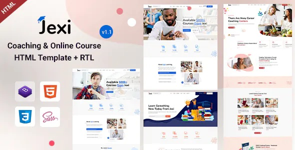Best Online Coaching and LMS HTML Template