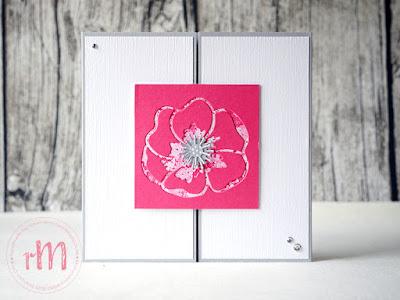 Stampin' Up! rosa Mädchen Kulmbach: Stamp A(r)ttack Blog Hop: Der Neue ist da! – neutrale Gatefold Grußkarte mit Magnetverschluss mit Leinenstruktur und Mohnblüte