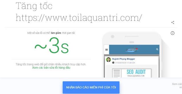Sự thật về tối ưu Test my site (Tốc độ Web trên di động 3G)