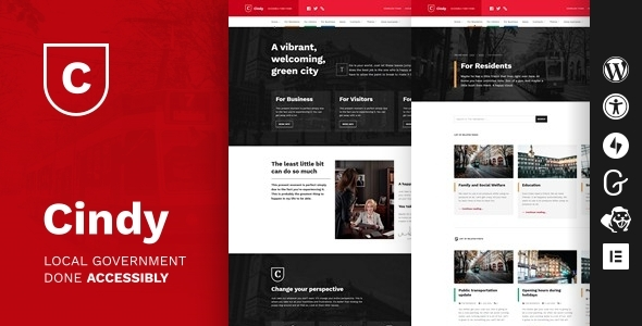 Cindy Accessible Local Government Responsive WordPress Themes