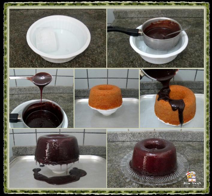 Bolo de cenoura com cobertura de chocolate 7
