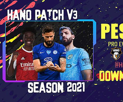 PES 2013 HANO PATCH V3 Season 2020/2021 AIO
