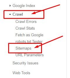 Crawl > Sitemap