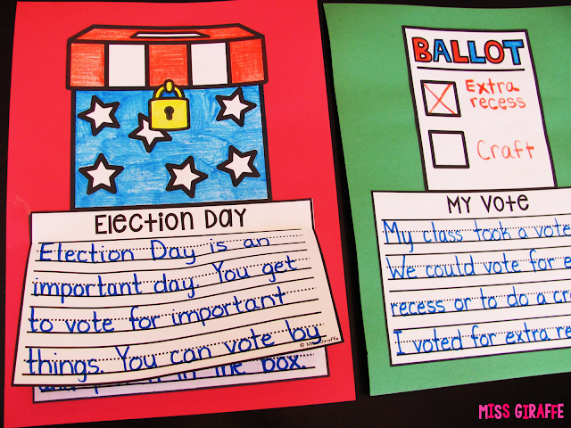 Election Day writing crafts that are no prep and so much fun to learn about the election and voting