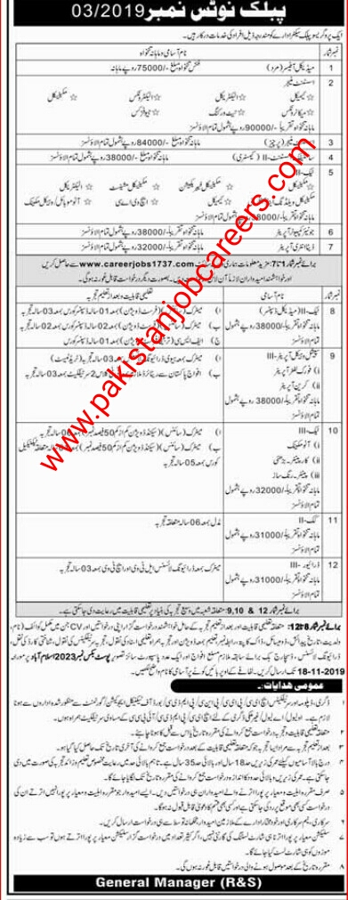 Latest PO Box 2023 Islamabad Jobs 2019 for Assistant Managers, Technicians, Jr Computer Operator, Data Entry Operator, Scientific Assistant, Medical Officer, Special Vehicle Operators & Others