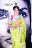 Bollywood Actress Raveena Tandon in Transparent Green Saree at Trailer Launch Of Film Maatr  0037.JPG