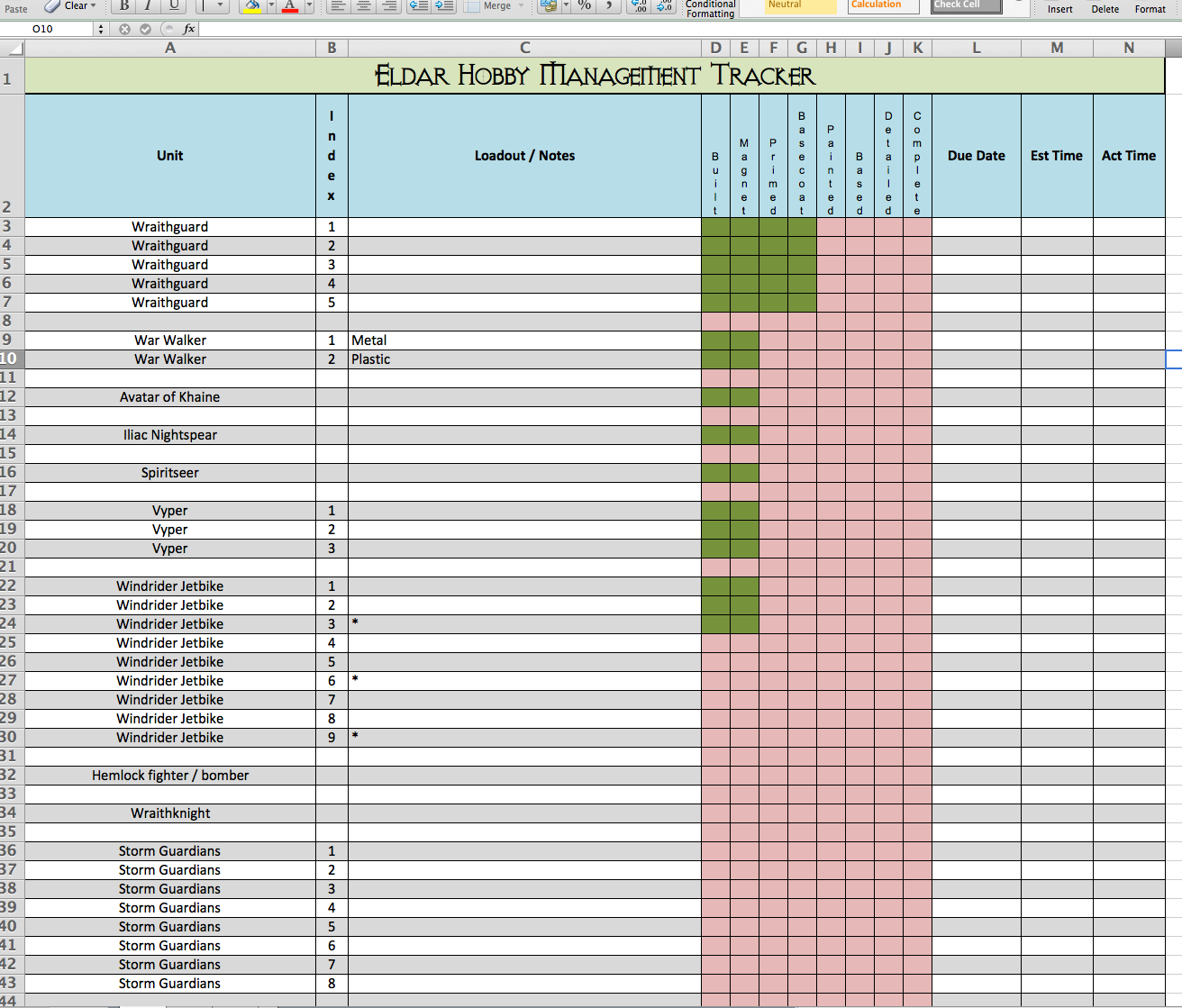 Project Tracker Template Excel